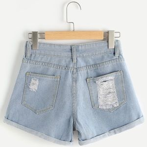 Shorts - Distressed High Waisted Shorts